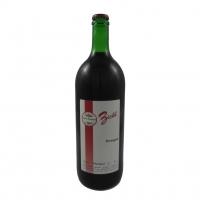 1 Liter Flasche mit  Schankwein rot