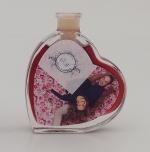Fläschchen in Herzform 0,05 Liter mit Rotwein oder Rotweinlikör