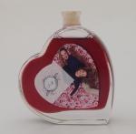 Fläschchen in Herzform 0,1 Liter mit Rotwein oder Rotweinlikör