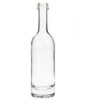 0,05Liter Flasche in Form einer Weinflasche