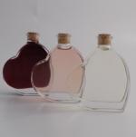 Fläschchen in Herzform 0,05 Liter mit Rosewein